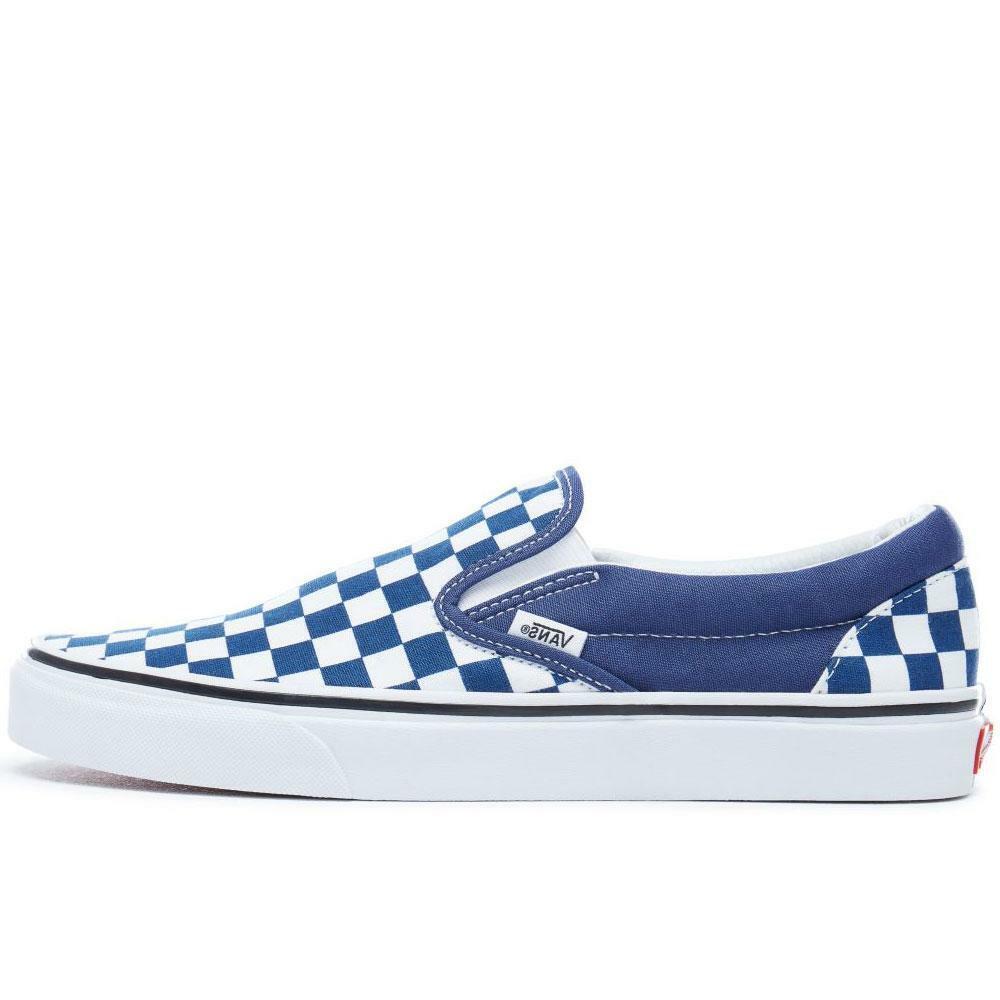 Vans Classic Slip On Damier en relief-Bleu