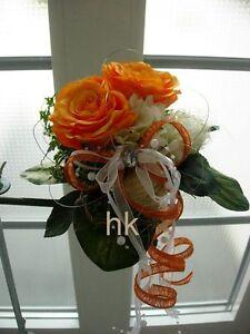 Brautstrauss Hochzeit Standesamt Hochzeitsstrauss Wurfstrauss Orange