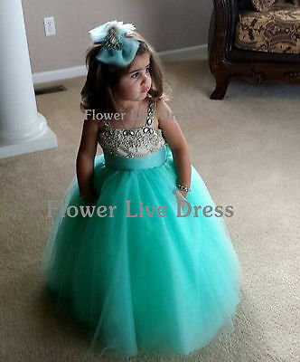 Formal Lace Baby Princess Bridesmaid Flower Girl Dresses Wedding Party Dresses A