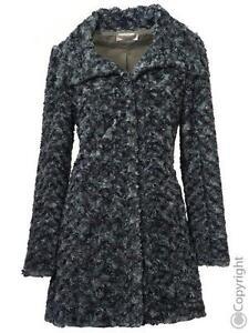 Nouveau Black tissée Gr 42 Manteau Khaki Tesini Linea en fourrure Coat wCppx8qvU