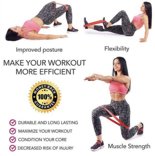 Booty Belt Workout Resistance Bands-Exercise Belt Band Perfect for Home Workout