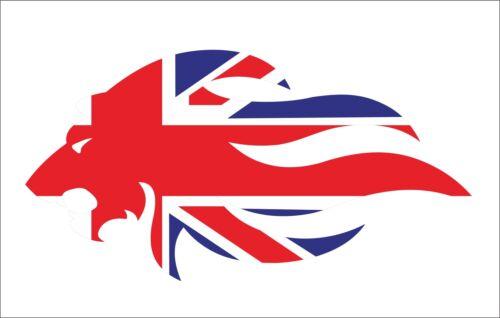 1PC Great Britain Union Jack Lion Sticker Decal Vinyl Hard Hat Car Body Decor MP
