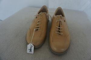FINN-COMFORT-LIMOGES-Schuh-mit-Einlagen-Schnuerschuhe-Gr-4-5-37-5-Braun-Leder-NEU