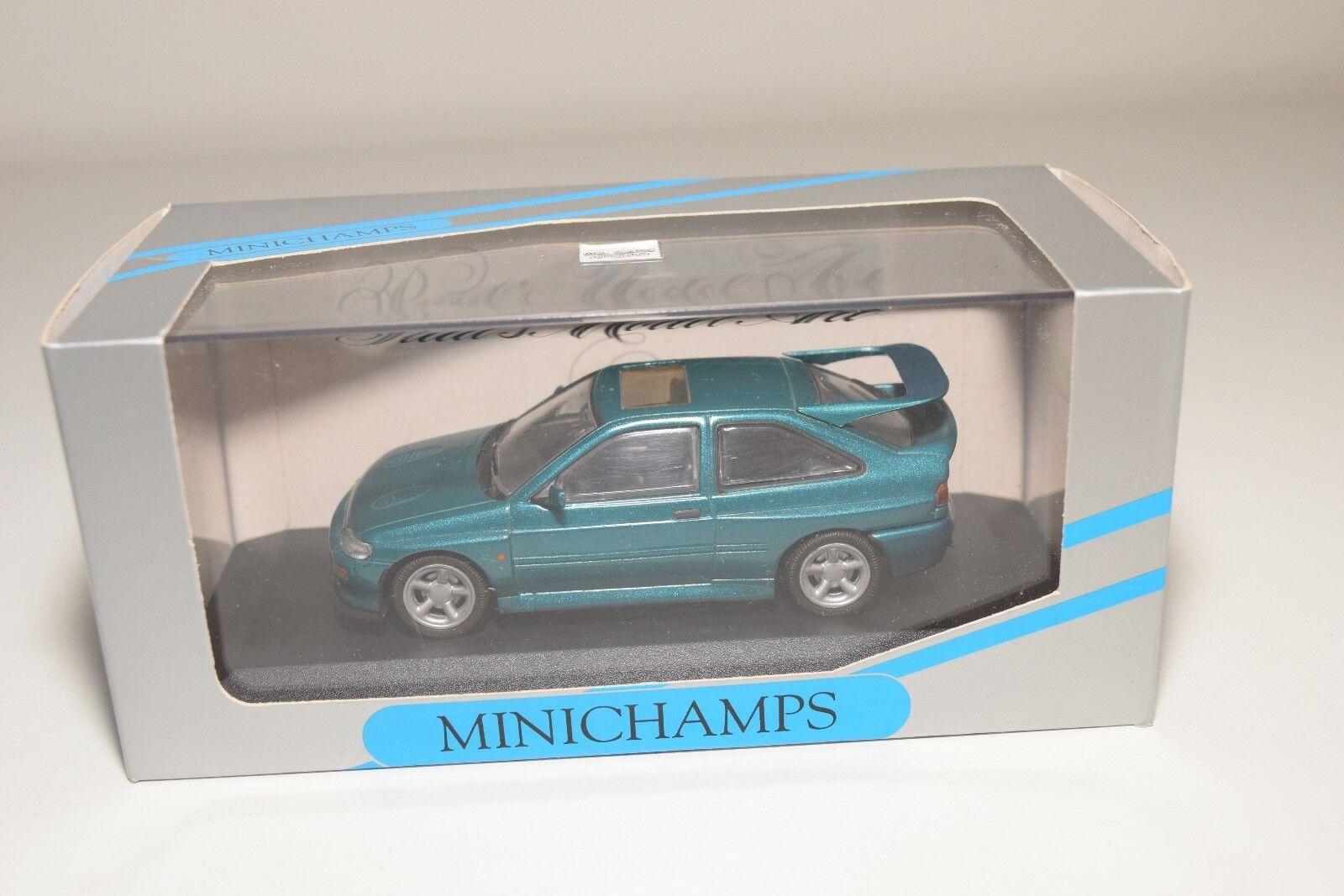 B MINICHAMPS FORD ESCORT COSWORTH METALLIC vert MINT BOXED