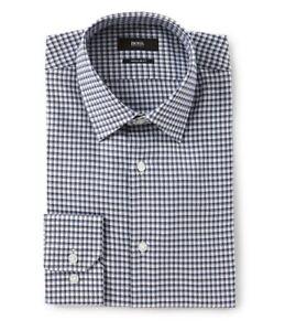 HUGO-BOSS-ENZO-US-BLACK-LABEL-DRESS-SHIRT-REGULAR-FIT-CHECKED-BLUE-GRAY-NWT