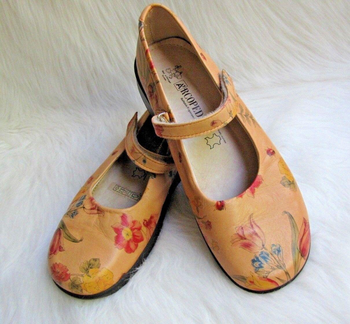 Women's Arcopedico Floral Leather Mary Jane Comfort shoes Sz Sz Sz 38 EU (7.5-8 US) 740256