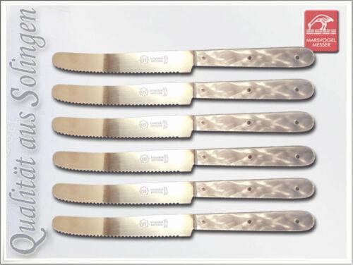 Set 6 x tableau Couteau de table Couteau avec nacre poignée et ondes taille de solingen