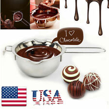 Stainless Steel Chocolate Butter Melting Pot Pan Milk Bowl Double Boiler Kitchen
