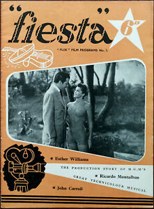 """""""Flix"""" Film Programmes No.1 """"Fiesta"""" M G. M.'s Musical with Esther Williams 1947"""