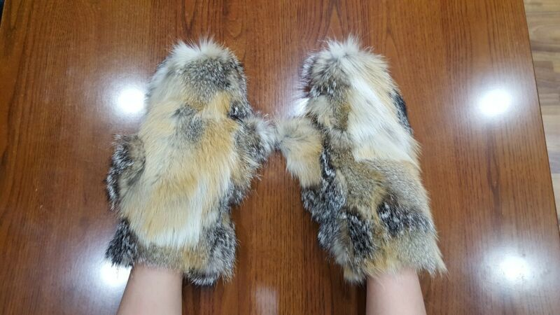 Fox Real Fur Mittens Gloves Natural Genuine Fur Fox ^ Invigorating Blood Circulation And Stopping Pains