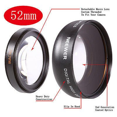 52mm Wide Angle Lens For CANON 10D 20D 350D 450D 650D 1000D 1100D G10 G11 G12