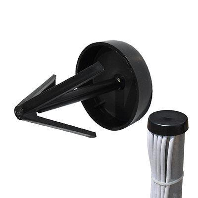 Mastkappe Universal 35mm - 60mm für Mastrohr Antennenmast Deckel PVC Robust