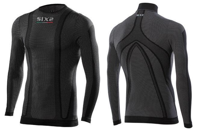 Maglia Termica Sport Moto Manica Lunga SIXS TS2 Carbon Sottotuta S Traspirante