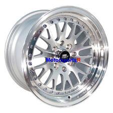 MST Wheels MT10 Rims 16 x8 +20 Silver Machine Lip 4x100 Stance Honda Fit Del Sol
