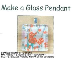 DIY Leather Necklace KIT glass heart vial pendant /& mini rose Nice Keepsake!