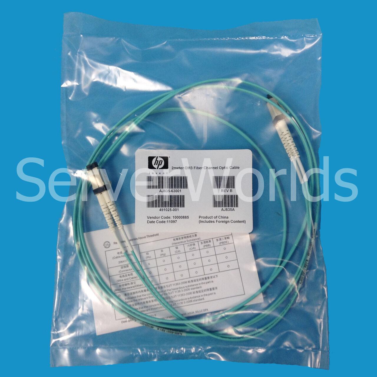 HP 491025-001 Lc-lc 2m FC Cable - Aj835a Aj835-63001 | eBay