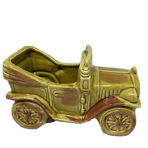 Vintage McCoy Pottery USA Ceramic Car Planter Green Automobile Planter E-8254