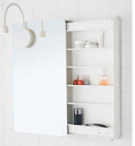 IKEA Brickan Spiegelschrank weiß 40x73 Cm Spiegel Schrank | eBay
