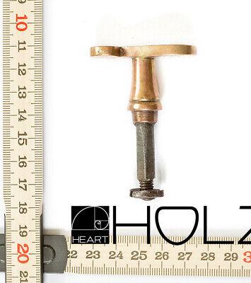 Beschlag Messing brüniert mit Loch 35x120mm für die perfecte Restauration Vintag