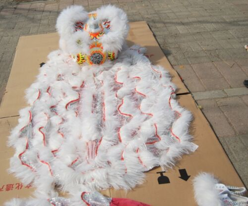 New Lion Dance Mascot Costume Wool Southern Lion Chinese Folk Art For Two Adults