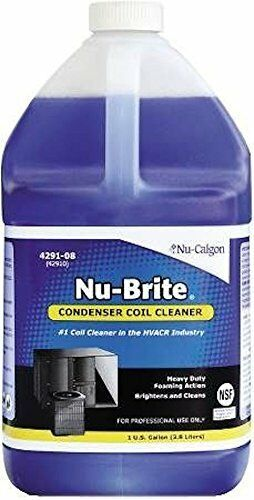 Nu-brite foaming condenser coil brightener & cleaner - for air cooled condensers