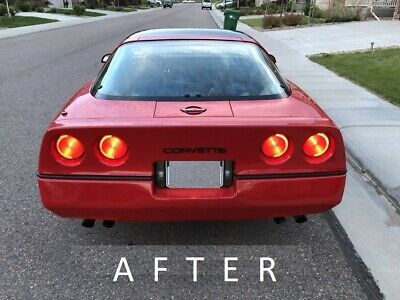 fits Chevrolet Corvette C4 1984-1990 front//rear bumper letters inserts chrome