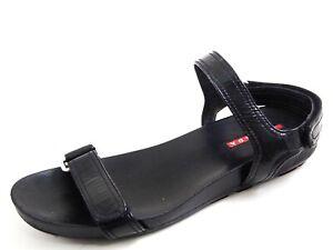Prada Sandals Black Patent Leather