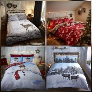 Image Is Loading Christmas Bedding Duvet Cover Sets Snowman Snow Deer
