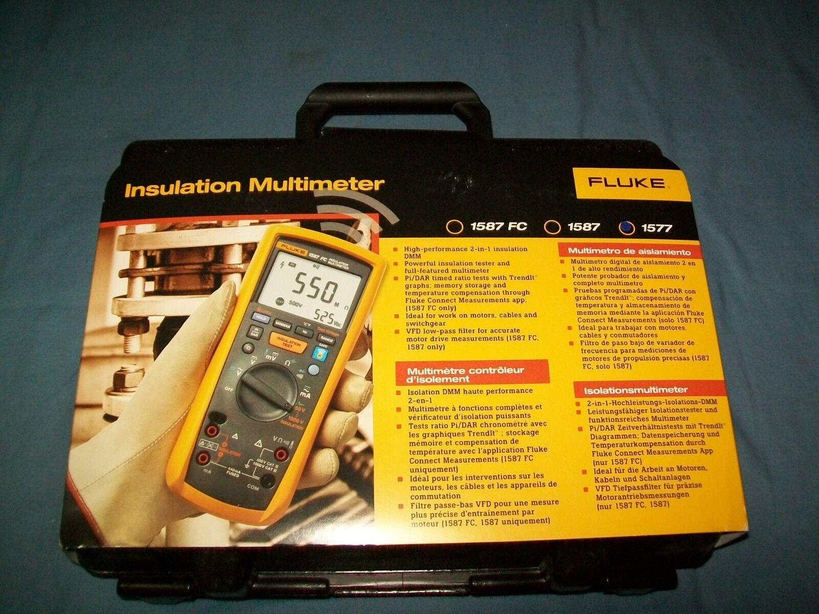 NEW Fluke 1577 Insulation Multimeter 600 Megaohm Resistance Megger