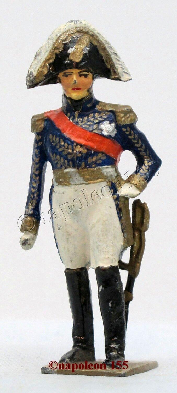Figurine, Soldat de Plomb Ancien VERTUNNI. Marechal Suchet, I er EMPIRE