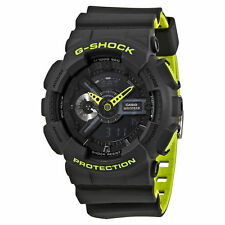 Casio G Shock Black Neon Green Dial Analog Digital Resin Sports Watch GA110LN-8A