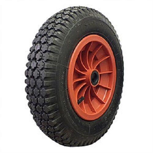 """85 mm hub 14/"""" pneumatique brouette jardin roue 12 mm roulement à rouleaux 3.50-8"""