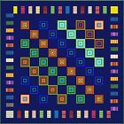 """ELECTRIC BOOGALOO - Navy - 83"""" - Quilt-Addicts Pre-cut Patchwork Quilt Kit Queen"""