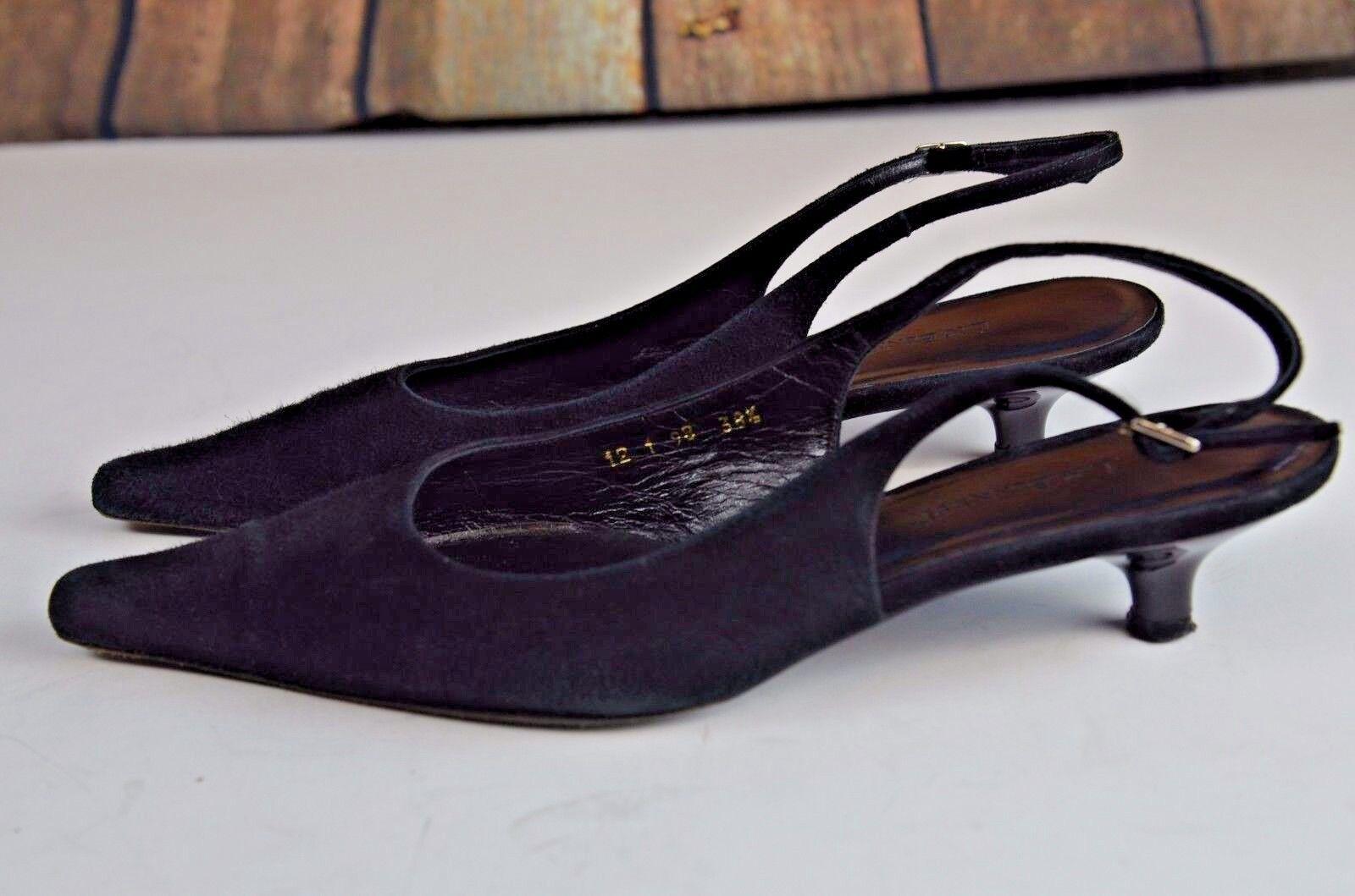 L.K. Bennett Kitten Heel Ankle Strap Pumps US Size 38.5 Spain 8 US Pumps Suede Career eb4822