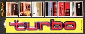 Original-1982-turbo-rot-Relief-3D-Emblem-Schild-18-cm-selbstklebend-von-RICHTER