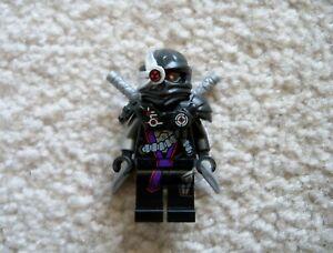LEGO-Ninjago-Rare-Nindroid-General-Cryptor-Minifig-w-Swords-Excellent