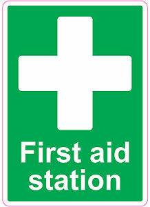 First Aid Station Health And Safety Signs Stickers Medical