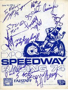 1974 Motorcycle Program w/ Numerous Signatures Cal Expo