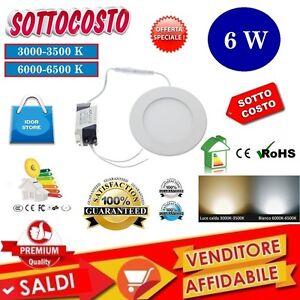 FARO-PANNELLO-FARETTO-LED-6W-SLIM-INCASSO-MOLLA-CON-DRIVER-LUCE-BIANCA-O-CALDA