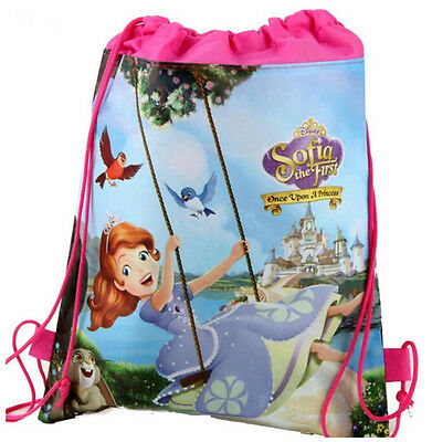 Sofia Princess Backpack Swimming Clothes Environmental Kid Drawstring School AU