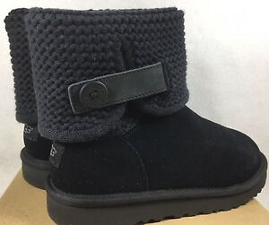 647746ee0f1 Details about UGG Australia Women's Shaina Black Knit Boots NEW 1012534  Cuff Ankle Bootie