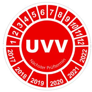 200 Stück UVV Nächster Prüftermin Prüfplaketten Plaketten Prüfung Wartung ° 30mm