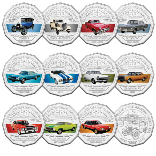 2017 50c Ford Australia Heritage 12-Coin Collection with Tin in stock