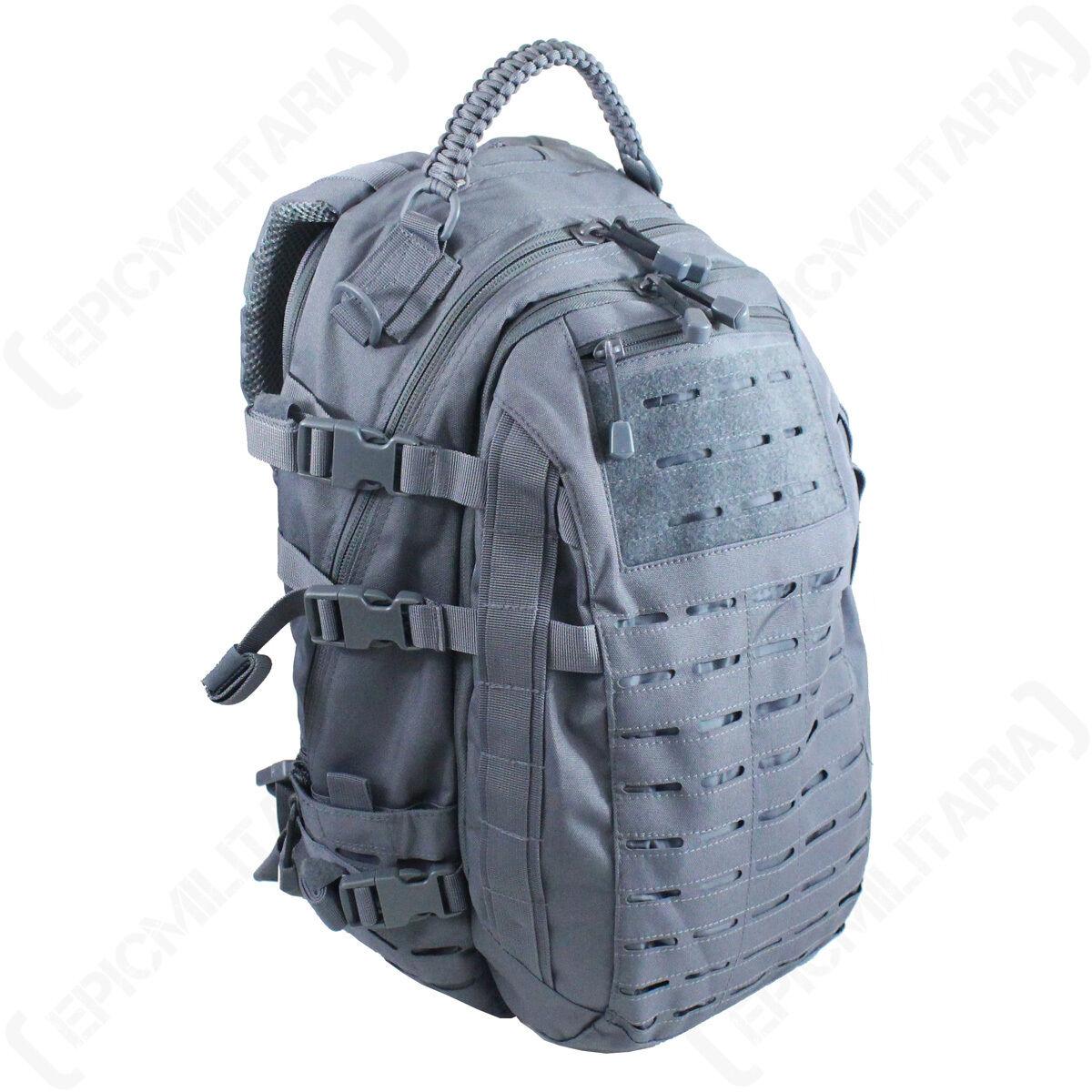 Grau Lasergeschnitten Molle Rucksack 25l groß Assault Paket Rucksack armee