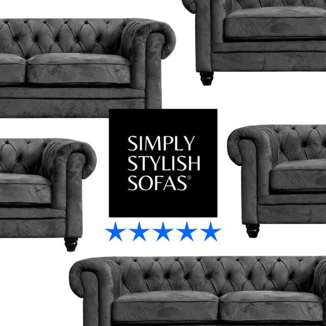 Zinc Grey Fabric 3 2 Seat Sofas For