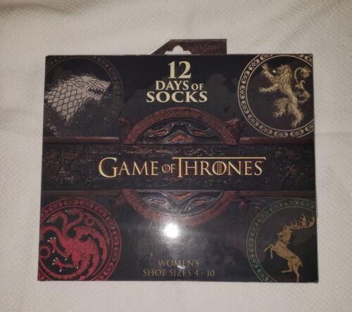 Game of Thrones socks 12 Days of Socks Advent Calendar Various Sizes