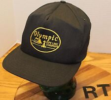 OLYMPIC PIPE LINE COMPANY HAT GAS OIL BLACK SNAPBACK VG CONDITION USA MADE