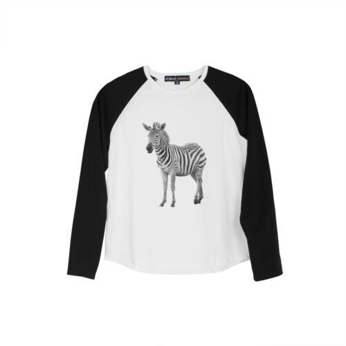 Photo of African Zebra Fashion Cotton Long Sleeves Kid Raglan T-Shirt UTS/_01
