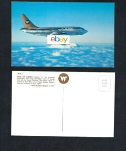 Wien Air Alaska Boeing 737 Jets Airline Issue Postcard 1976 M Wright Ebay