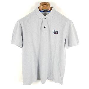 Paul-amp-Shark-Poloshirt-Herren-XL-Grau-Pique-Kurzarm-Shirt-Made-In-Italy